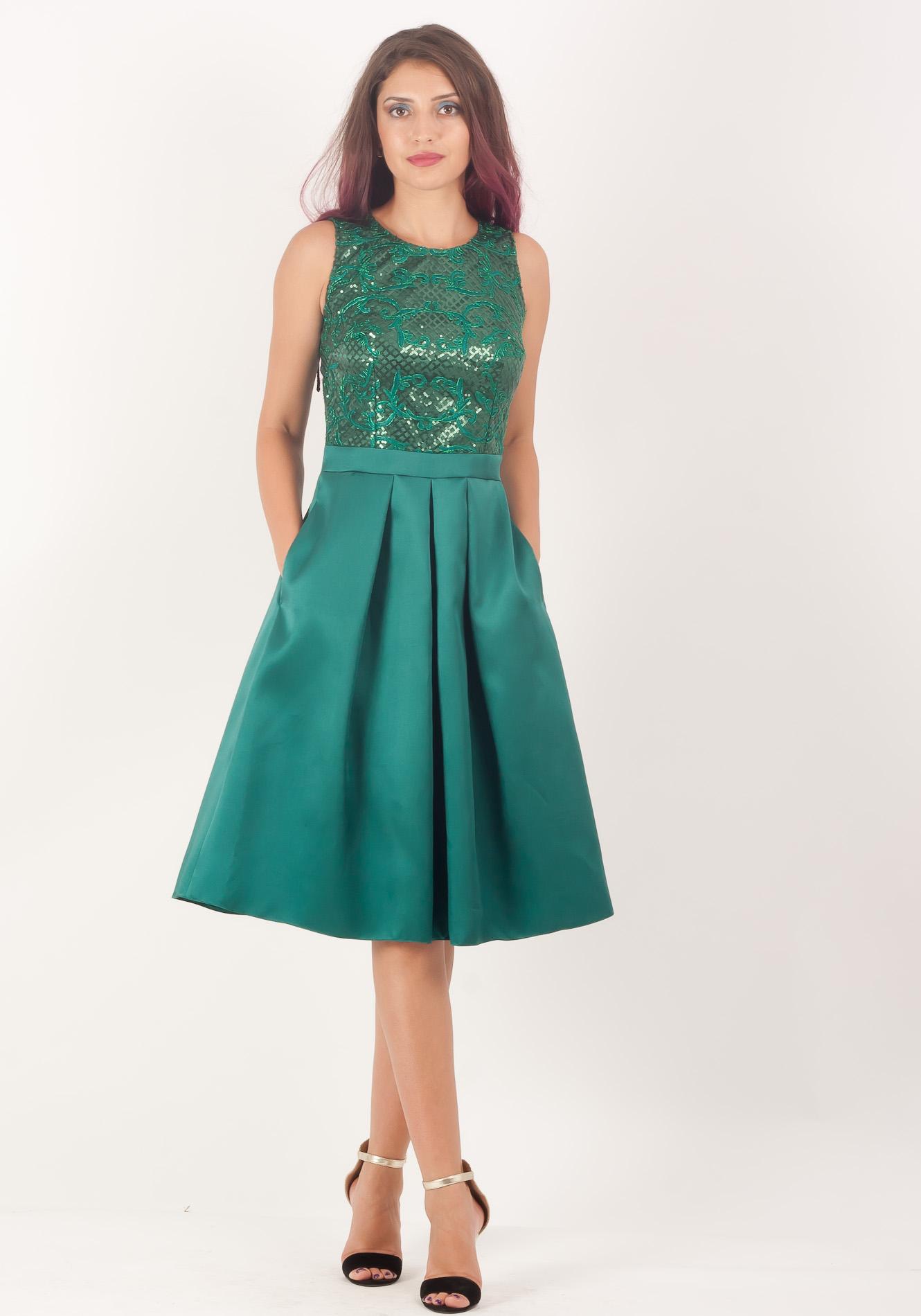 Rochie ocazie verde smarald
