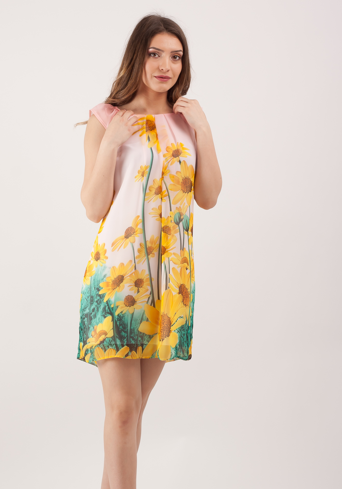 Rochie cu pliuri Multicolor