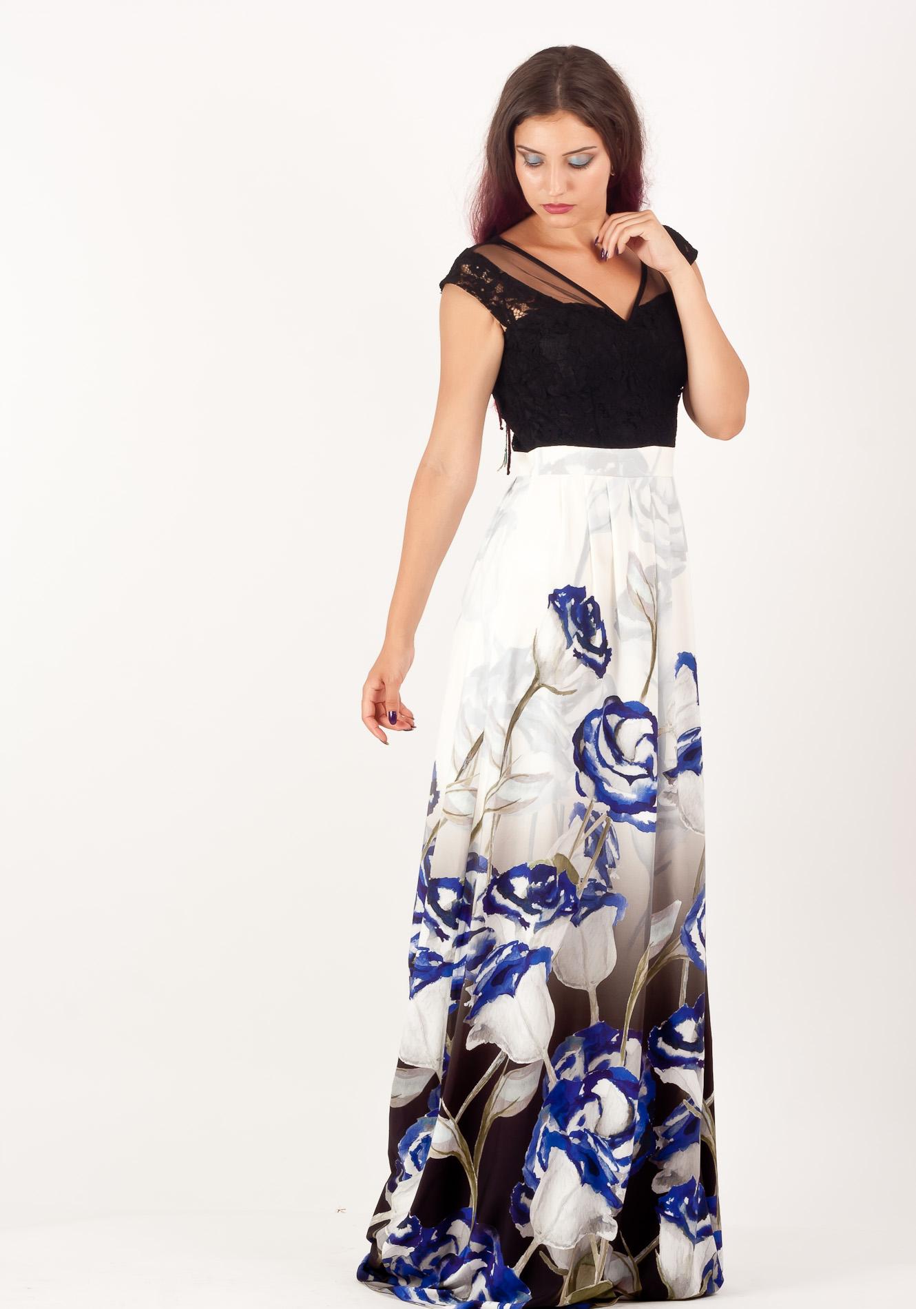 Rochie lunga cute albastru
