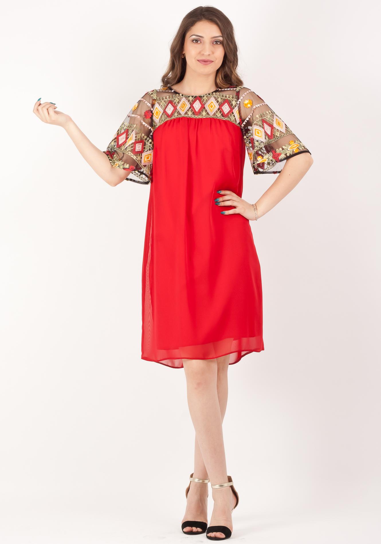 Rochie larga rosu