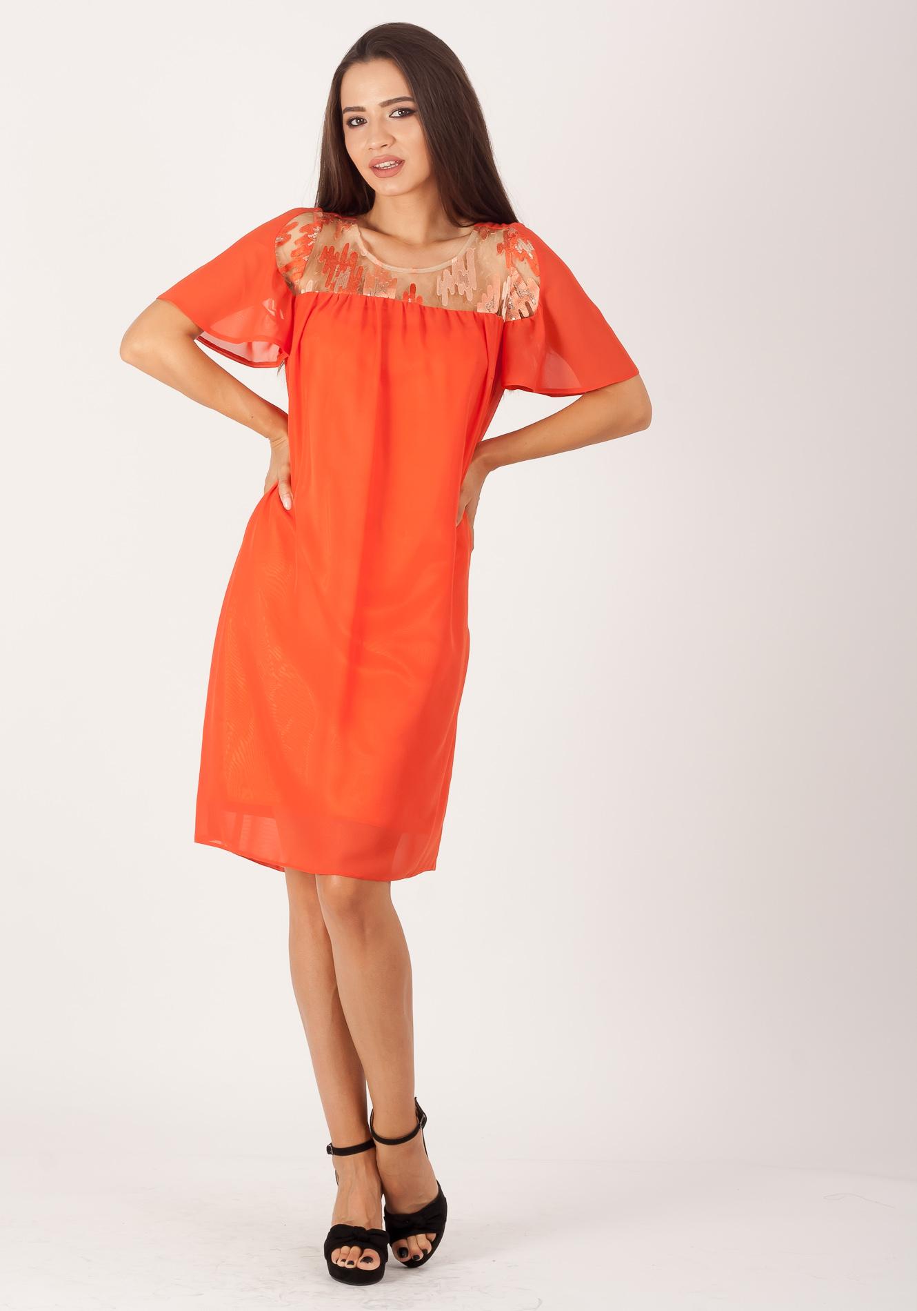 Rochie larga orange