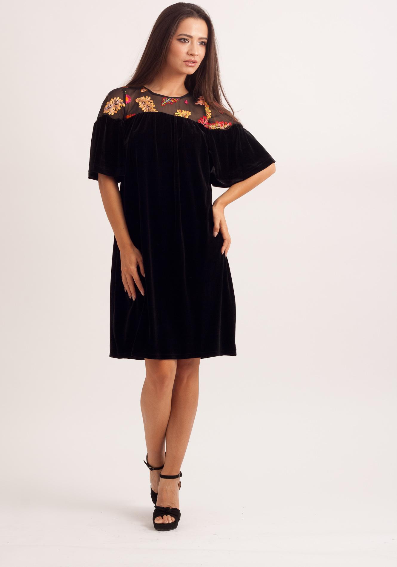 Rochie din catifea Negru