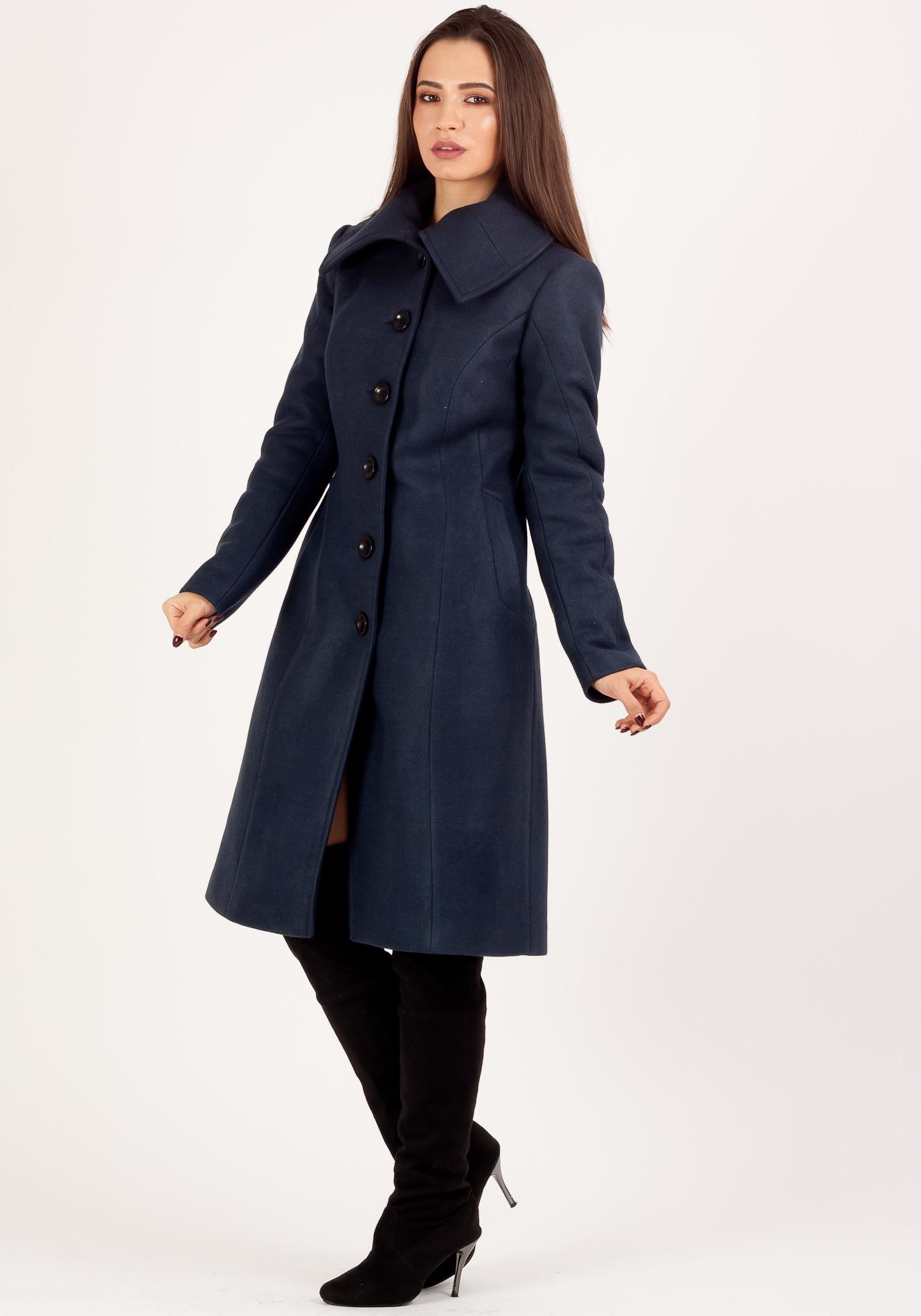Palton Lung Bleumarin 36