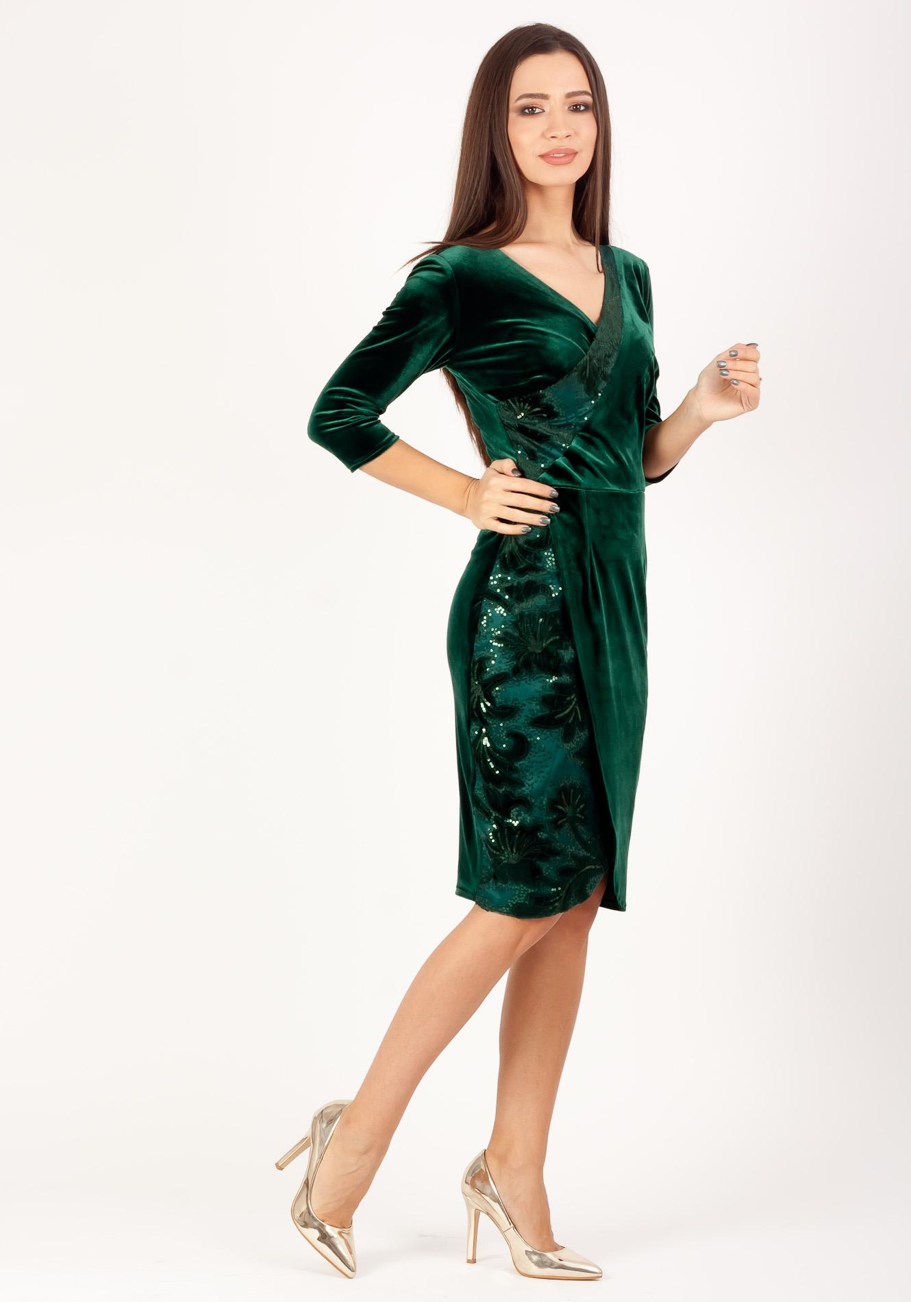 Rochie petrecuta verde smarald