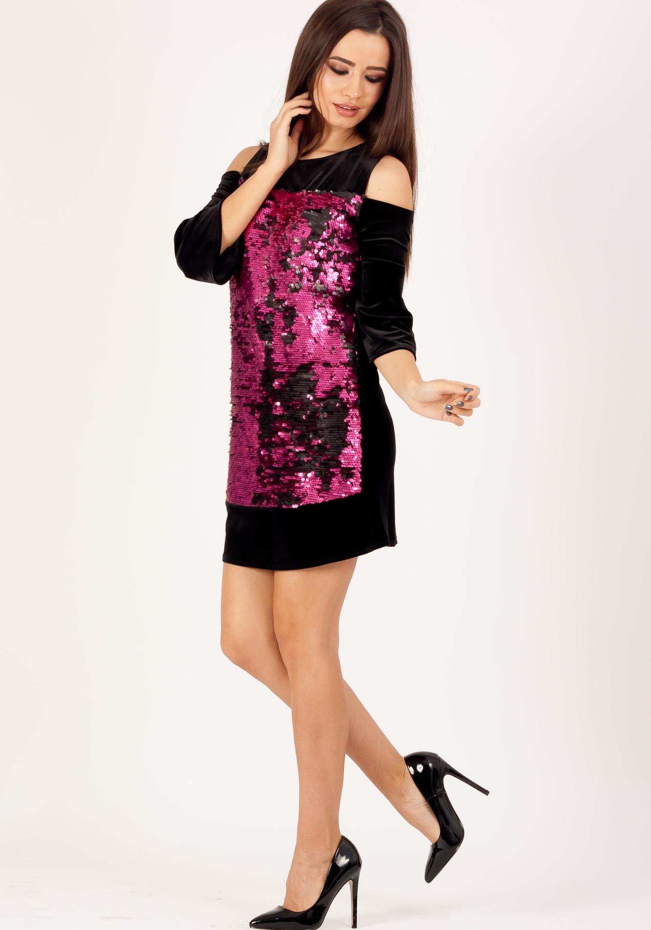 Rochie cu paiete Roz