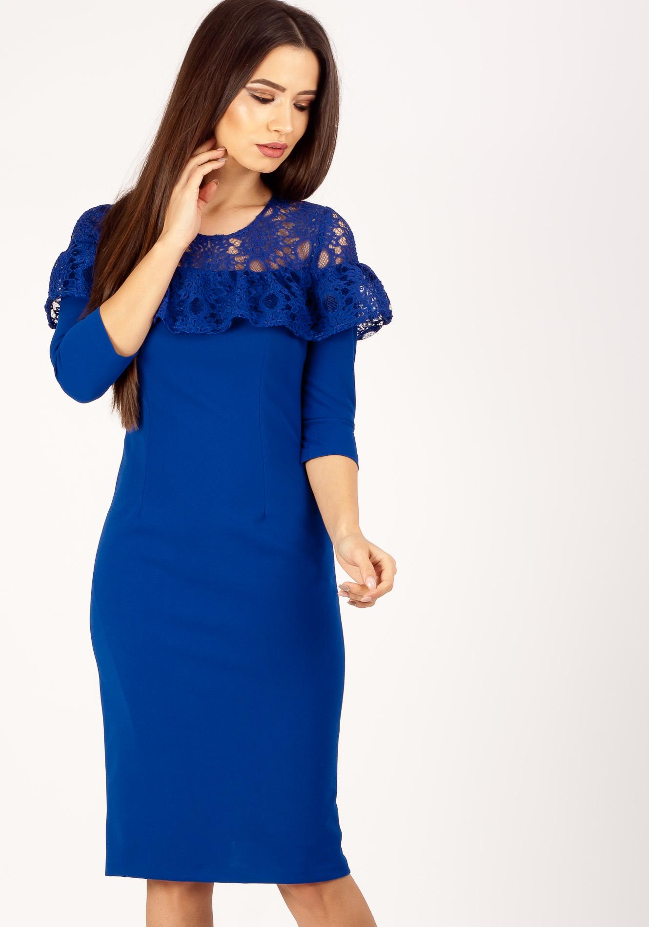 Rochie conica albastru